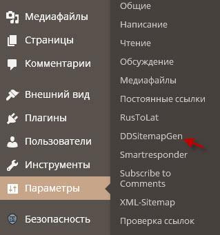 Создание карты сайта WordPress